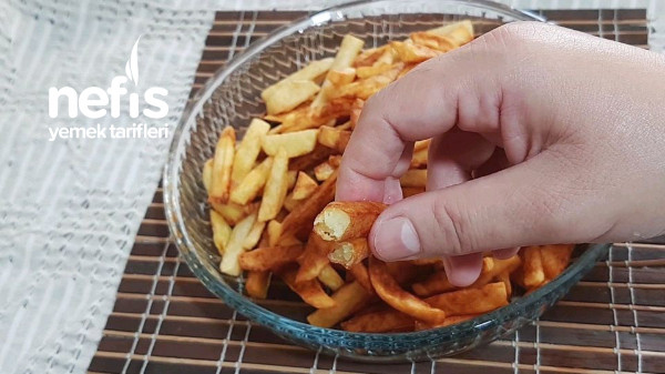 Restoran Usulü Yağ Çekmeyen Nişasta Kullanmadan Çıtır Çıtır Patates Kızartması