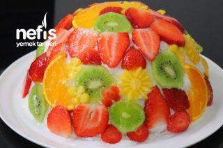 Meyveli Kümbet Pasta Tarifi