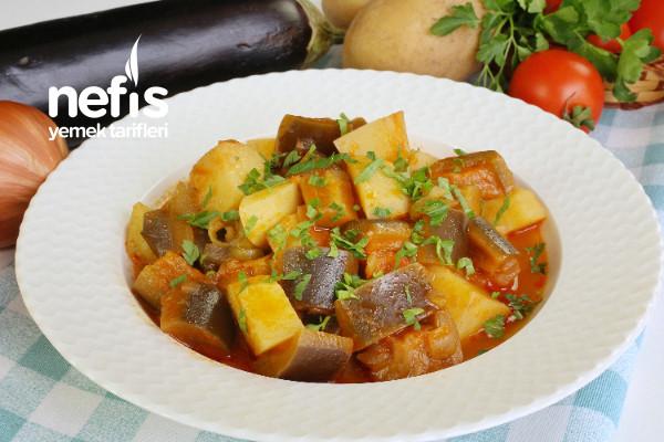 Çok Beğeni Alan Patlıcanlı Türlü Yemeği (videolu)