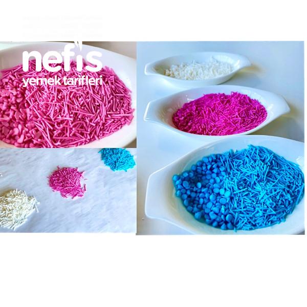 Ev Yapımı Renkli Granül Şekerler(pasta Süsü)videolu-9420918-130510