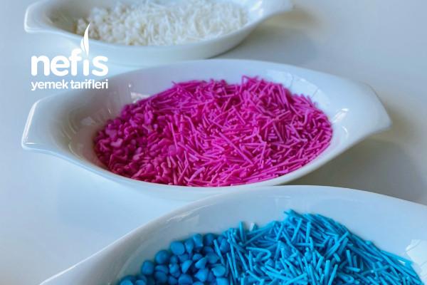Ev Yapımı Renkli Granül Şekerler (Pasta Süsü) Videolu