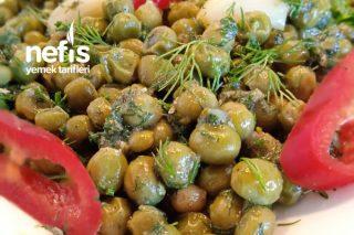 Zeytinyağlı Dereotlu Bezelye Salatası Tarifi