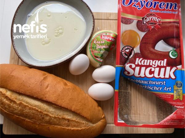 Fırında Sucuklu Yumurtalalı Ekmek-9428906-150513