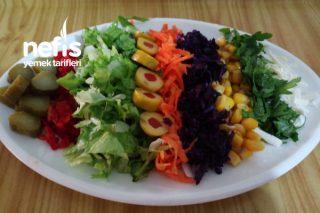 Porsiyonluk Gökkuşağı Salatası Tarifi