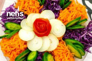 Renkli Çiçek Salata Tarifi