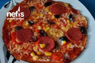 Sağlıklı Tavada Pizza Tarifi