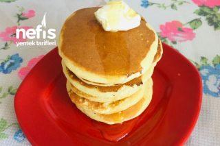 Pankek Pancake (Kahvaltılık Çayın Yanına Hamur İşi) Tarifi