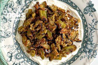 Çıtır Patlıcan Biber Salatası Tarifi