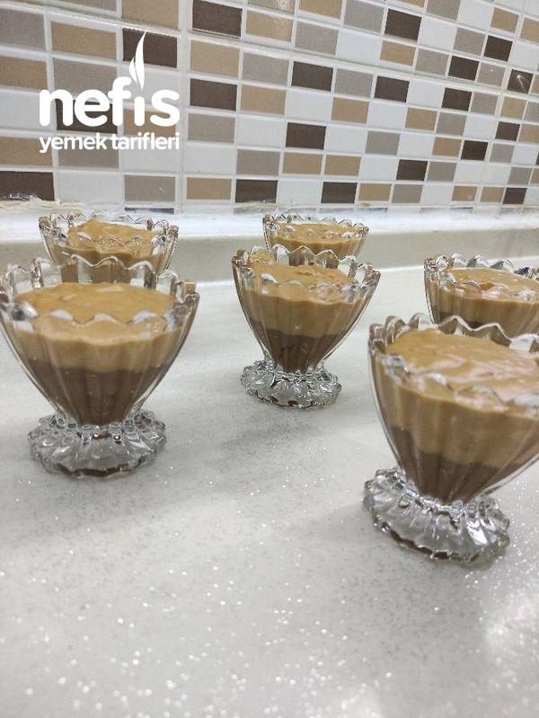 Karamelli Çikolatalı Muhallebi Tam Bir Yaz Tatlısı-9448601-180555
