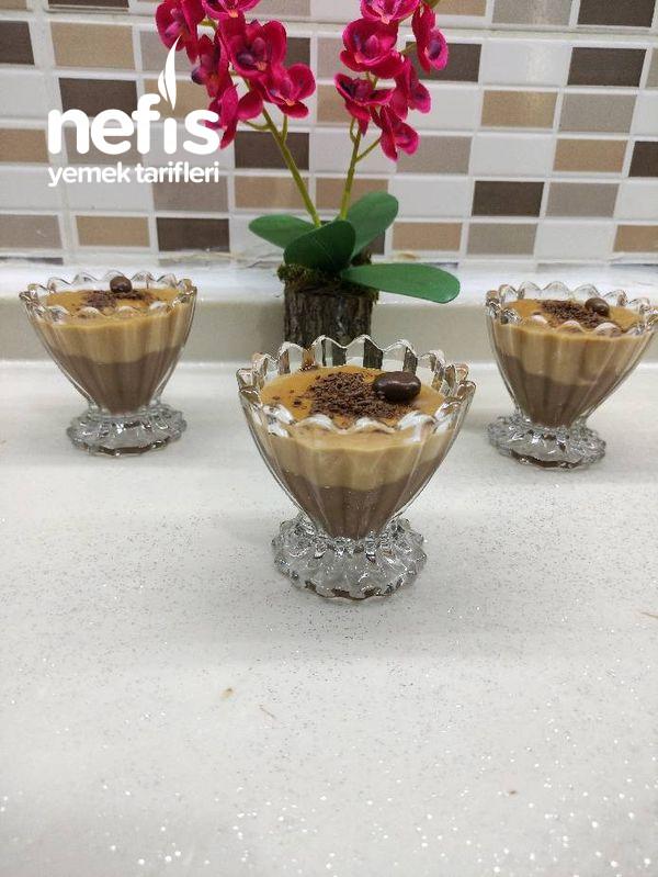 Karamelli Çikolatalı Muhallebi Tam Bir Yaz Tatlısı-9448601-180559