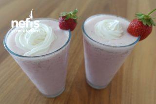 Çilekli Milkshake Tarifi (Videolu)