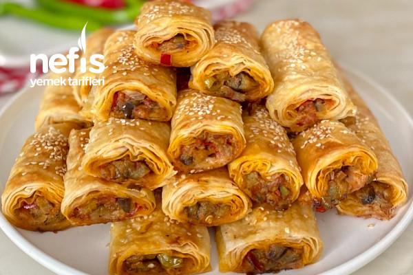Nefis Lezzetiyle Patlıcanlı Börek