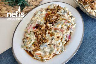 Yoğurtlu Erişteli Sebze Salatası Tarifi