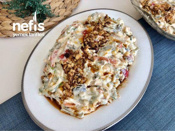 Yoğurtlu Erişteli Sebze Salatası-9456854-090551