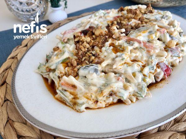 Yoğurtlu Erişteli Sebze Salatası-9456854-090504