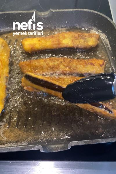 Yağ Çekmeyen Mısır Unlu Patlıcan Kızartması-9468087-110542