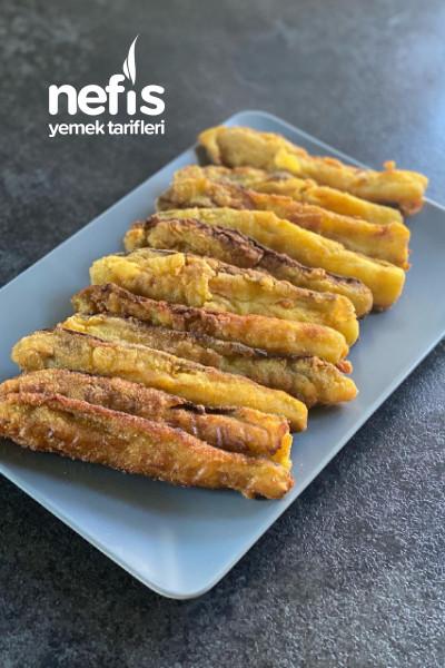 Yağ Çekmeyen Mısır Unlu Patlıcan Kızartması-9468087-110521