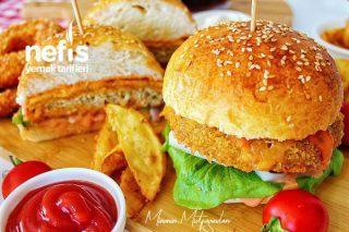 Tavuk Burger (Hazır Burgerlerden Bin Kat Lezzetli) Tarifi