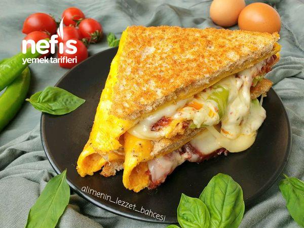 Harika Lezzetiyle Sucuklu Omlet Sandviç-9473988-100615