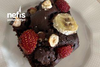 Fit Browni (Muzlu Bitter Çikolatalı) Tarifi
