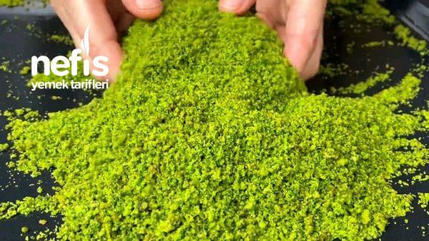 Yalancı Toz Antep Fıstığı Yapımı Tatlıların Üzerine Bol Bol Serpin (Videolu)-9499059-080616