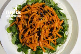 Efsane Lezzet Havuçlu Semizotu Salatası Tarifi