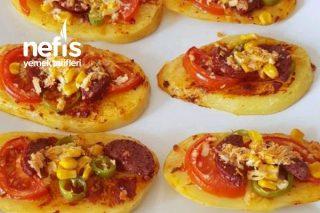 Pizza Tadında Patates Dilimleri Tarifi