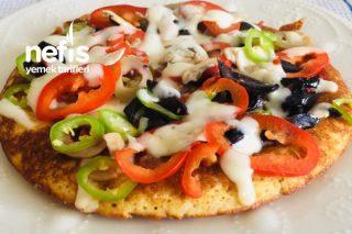 Yulaflı Fit Pizza (Kahvaltılık Ana Yemek Çayın Çanına Fit Tarif) Tarifi