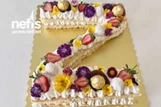 Harf Pasta Doğum Günü Pastası Pandispanya Pasta (Videolu) Tarifi