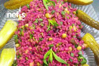 Mor Bulgur Salatası Tarifi