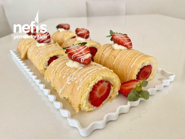 Porsiyonluk Rulo Pasta/ Cilekli Rulo Pasta-9512336-070608
