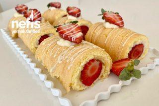 Porsiyonluk Rulo Pasta Çilekli Rulo Pasta (Videolu) Tarifi