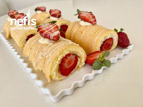 Porsiyonluk Rulo Pasta/ Cilekli Rulo Pasta-9512336-070603