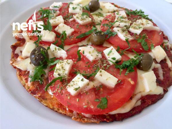 Çok Lezzetli Ve Doyurucu Fit Yulaf Tabanlı Pizza (Tavada)-9519056-110637