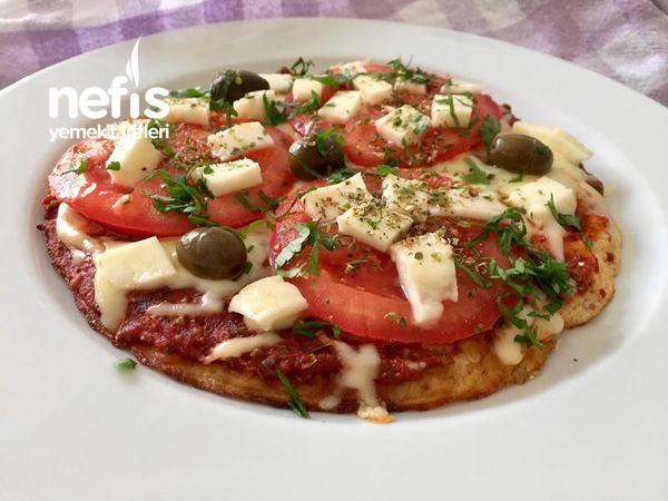 Çok Lezzetli Ve Doyurucu Fit Yulaf Tabanlı Pizza (Tavada)-9519056-110645