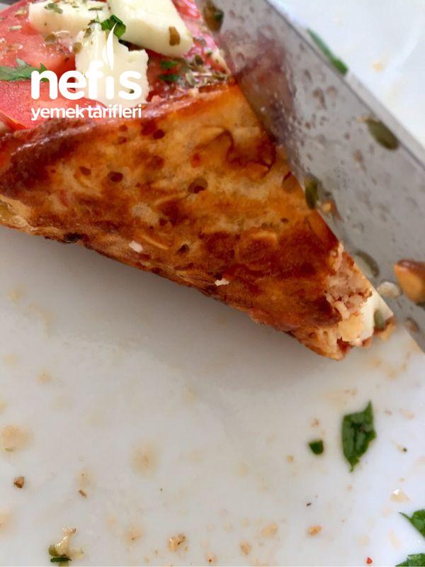 Çok Lezzetli Ve Doyurucu Fit Yulaf Tabanlı Pizza (Tavada)-9519056-110649