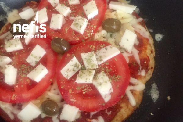 Çok Lezzetli Ve Doyurucu Fit Yulaf Tabanlı Pizza (Tavada)
