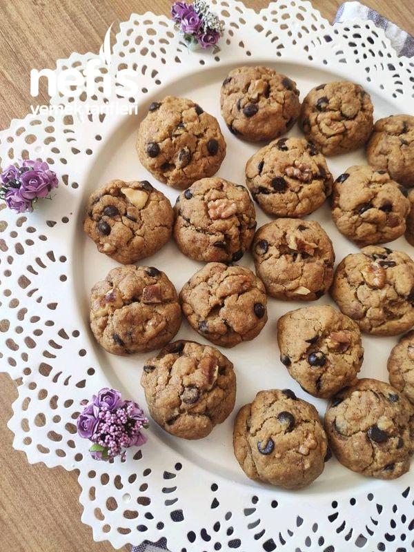 Türk Kahveli Çikolatalı Cevizli Cookies