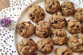 Türk Kahveli Çikolatalı Cevizli Cookies Tarifi