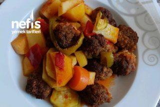 Dolma Biberli Patatesli Patlıcan Kabaklı Fırında Köfte Tarifi