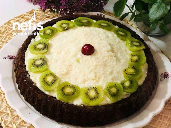 Kremalı Kakaolu Tart Kek