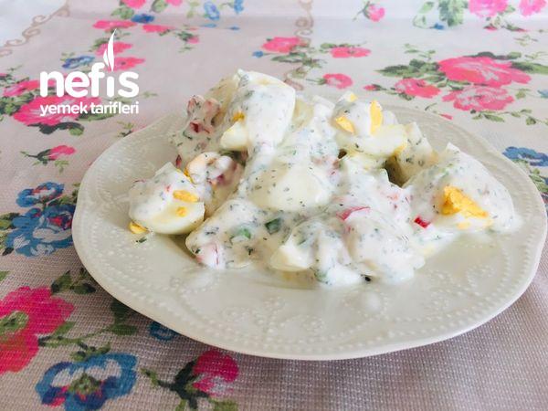 Yoğurtlu Yumurtalı Patates Salatası (Fit Tarif Kahvaltılık Ana Öğün Çayın Yanına)