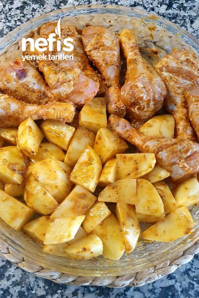 Fırında Soslu Patatesli Tavuk Baget (Nefis Lezzette)-9524268-130641