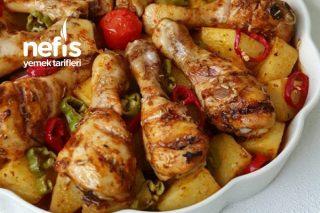 Fırında Soslu Patatesli Tavuk Baget (Nefis Lezzette) Tarifi