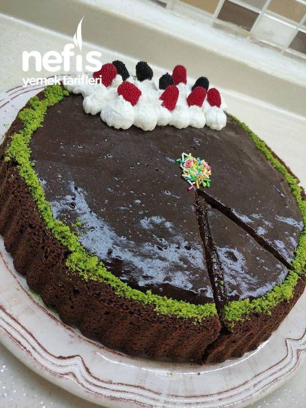 Çikolatalı Muhallebili Tart Kek