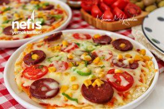 10 Dakikada Muhteşem Bazlama Pizza Tarifi