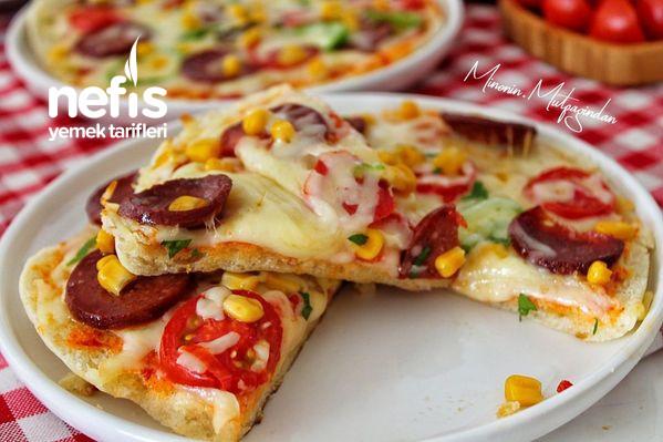 10 Dakikada Muhteşem Bazlama Pizza