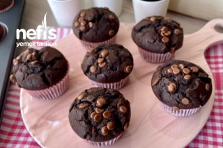 Duble Çikolatalı Pofuduk Muffin Tarifi