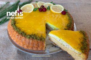 Haşhaş Kremalı Limonlu Tart Kek Tarifi