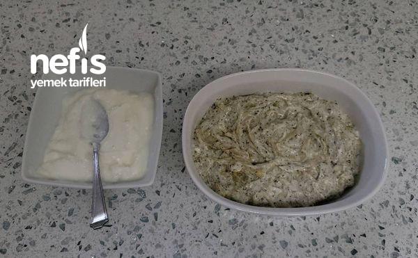Naneli Soğanlı Yoğurtlu Kabak Meze (Videolu)